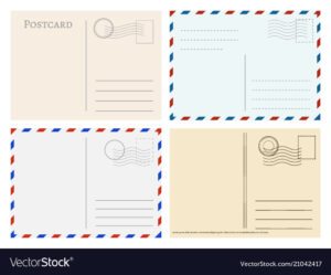 Travel Postcard Templates Greetings Post Cards in Post Cards Template