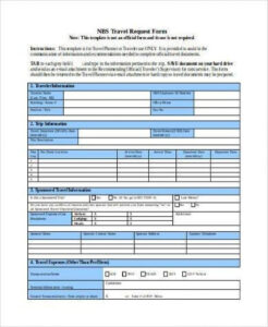 Travel Request Form Full Sample Business – Thefaultless In Travel Request Form Template Word
