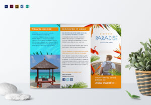 Travel Tri Fold Brochure Template with Word Travel Brochure Template