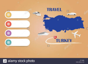 Travel Turkey Template Vector For Travel Agencies Etc in Blank Turkey Template