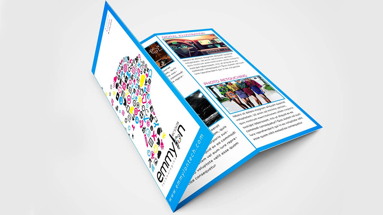 Tri Fold Brochure Design Layout | Adobe Illustrator (#speedart) Regarding Adobe Illustrator Tri Fold Brochure Template