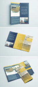 Tri Fold Brochure | Free Indesign Template for Z Fold Brochure Template Indesign