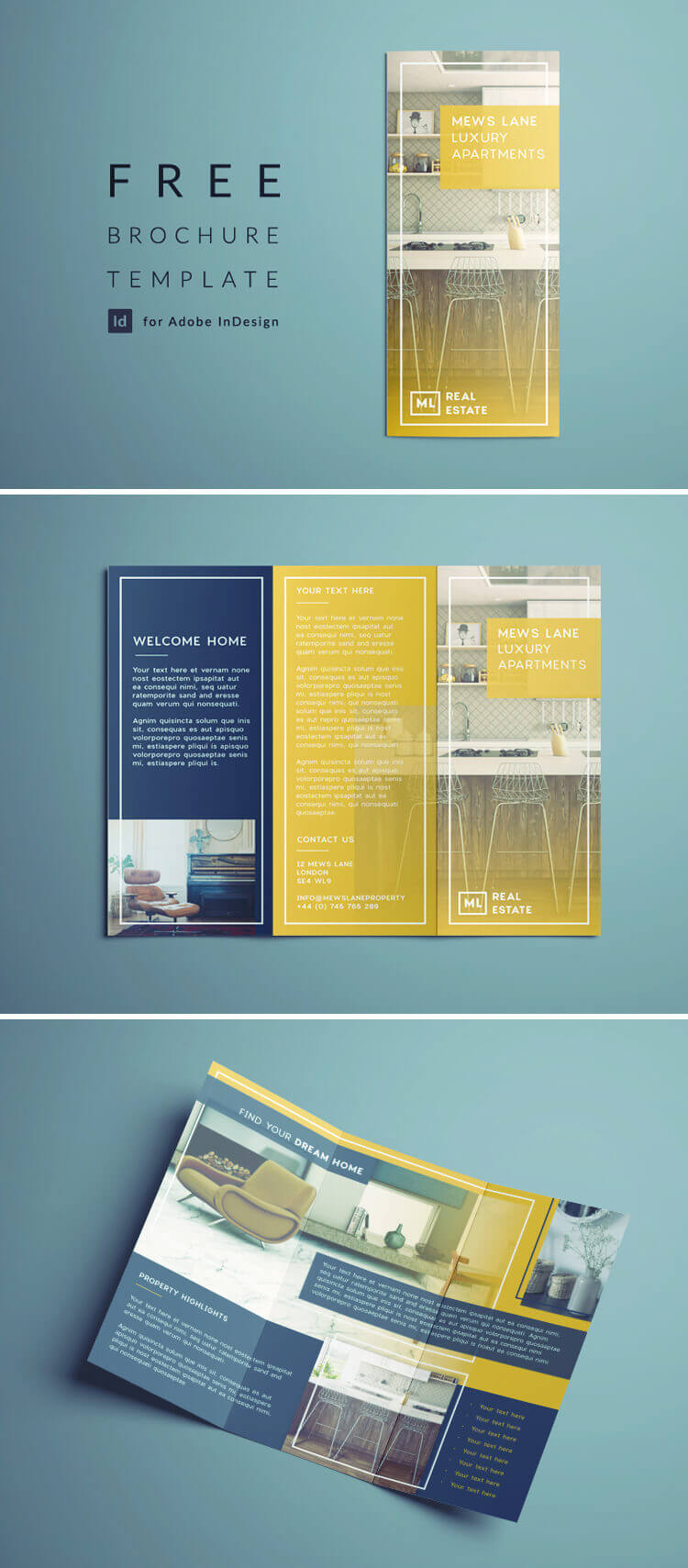 Tri Fold Brochure | Free Indesign Template Within Adobe Indesign Tri Fold Brochure Template