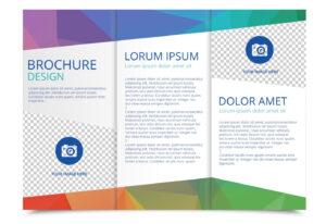 Tri Fold Brochure Vector Template – Download Free Vectors intended for 3 Fold Brochure Template Free Download