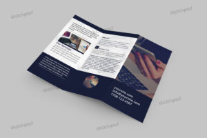 Tri-Fold Corporate Brochure – Free Psd Template – Free Psd in Brochure Psd Template 3 Fold