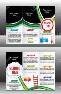 Tri Fold School Brochure Template Vector Illustration inside Tri Fold School Brochure Template