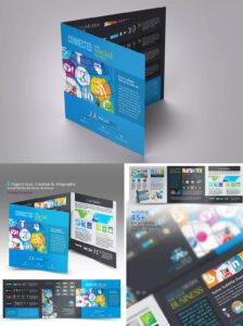 Tri-Fold Social Media Brochure Template Indesign Indd with regard to Social Media Brochure Template