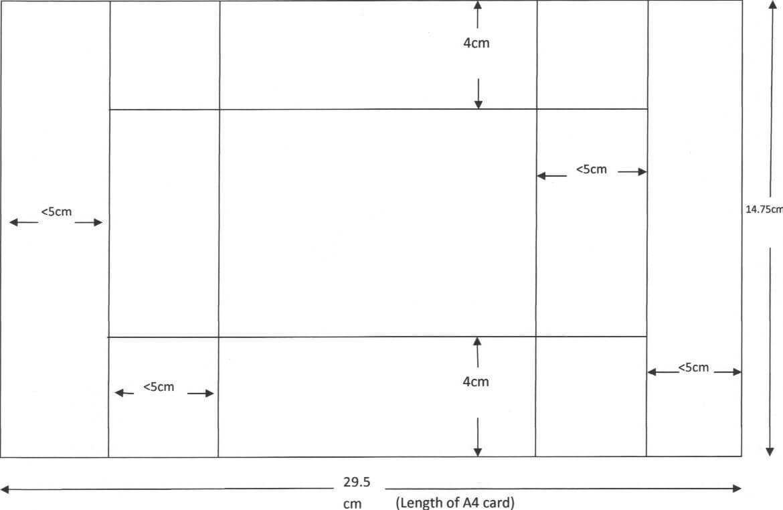 Tri Shutter Card Template Using A4 Card | Kaart Modellen Within Three Fold Card Template