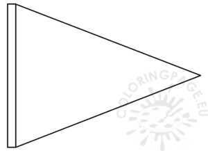 Triangle Flag Banner Template – Coloring Page regarding Triangle Pennant Banner Template