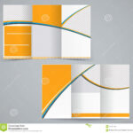 Trifold Brochure Design. Abstract. Round. Geometrical. Curve With Brochure Template Illustrator Free Download