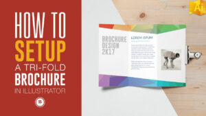 Trifold Brochure For Print In Illustrator – Illustrator Tutorial for Adobe Illustrator Tri Fold Brochure Template