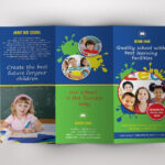 Trifold Brochure For School  V389Template Shop On Inside Play School Brochure Templates