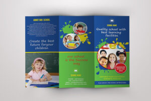 Trifold Brochure For School -V389Template Shop On inside Play School Brochure Templates