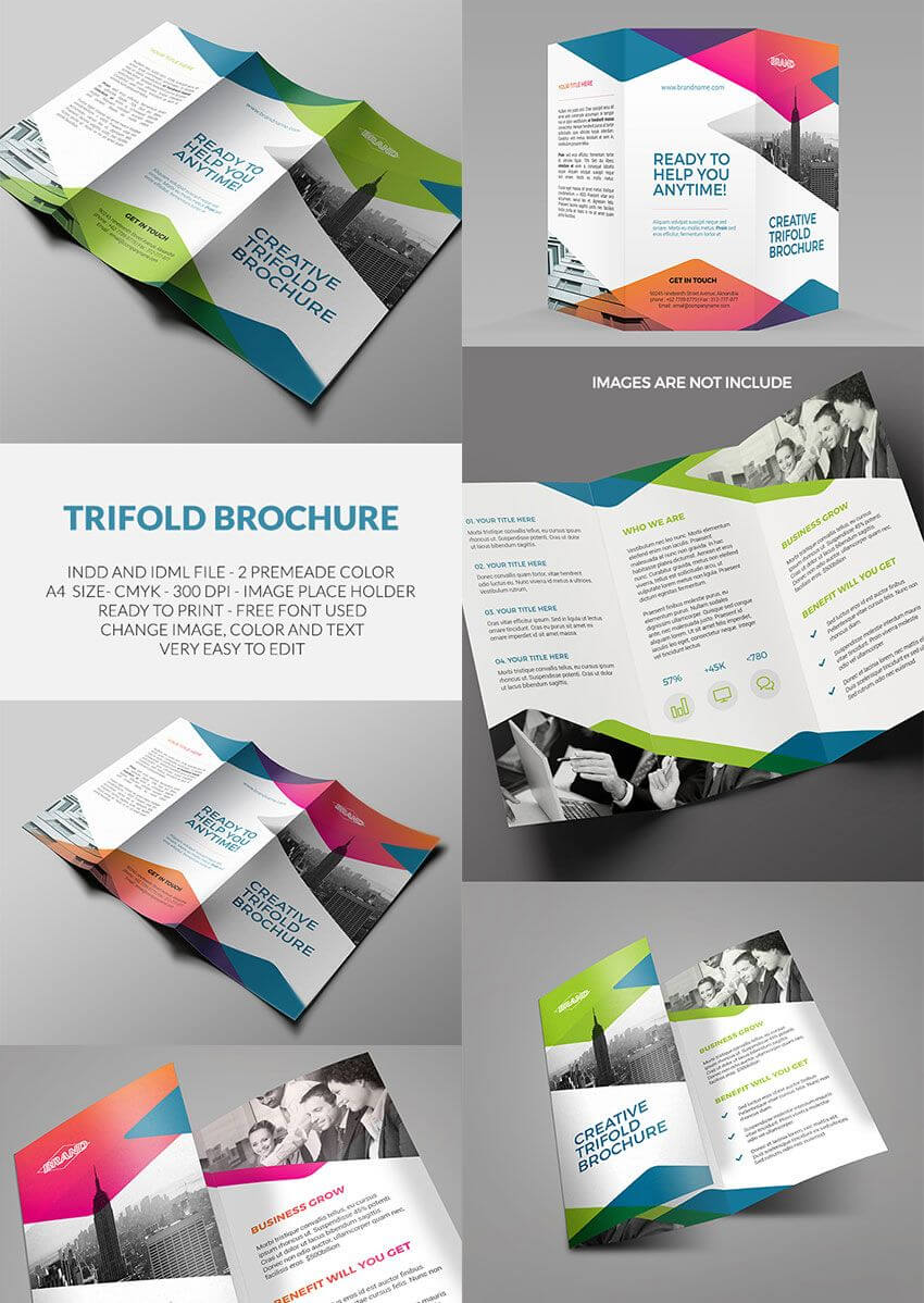 Trifold Brochure – Indesign Template | Amann | Indesign With Regard To Good Brochure Templates