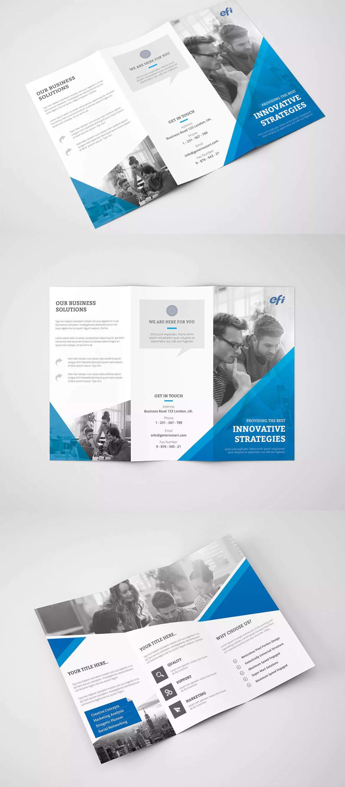 Trifold Brochure Template Psd - A4 | Brochure Design With Regard To Hotel Brochure Design Templates