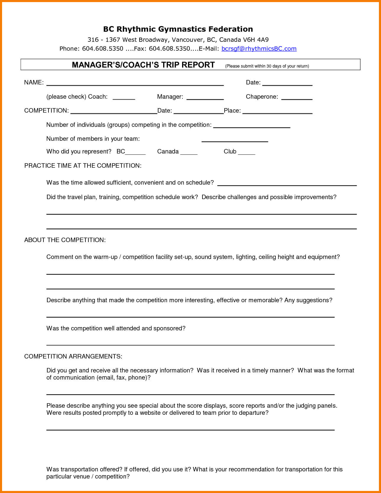 Trip Report Template The Worst Advices We've Heard For With Business Trip Report Template