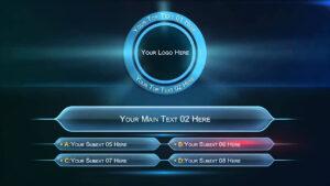 Trivia Powerpoint Template Borders Jeopardy Quiz Free throughout Trivia Powerpoint Template