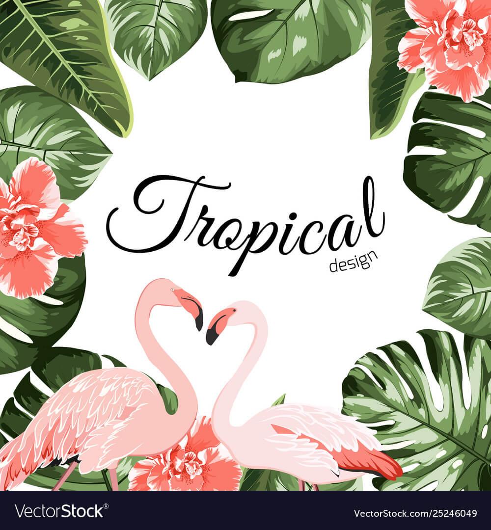 Tropical Event Invitation Card Template Inside Event Invitation Card Template