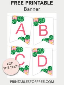 Tropical Printable Banner | Free Printables – Free Printable inside Printable Letter Templates For Banners