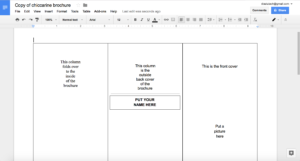 Tutorial: Making A Brochure Using Google Docs From A throughout Brochure Template For Google Docs