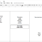 Tutorial: Making A Brochure Using Google Docs From A throughout Brochure Template Google Drive