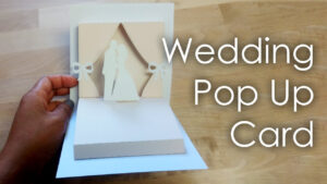 [Tutorial + Template] Diy Wedding Project Pop Up Card throughout Diy Pop Up Cards Templates