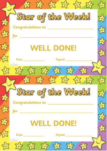 Twinkl Resources >> Star Of The Week >> Thousands Of Inside Star Certificate Templates Free