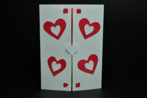Twisting Hearts Pop Up Card Template intended for Heart Pop Up Card Template Free