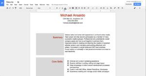 Two Column Word Document Template – Humman Regarding Google Word Document Templates