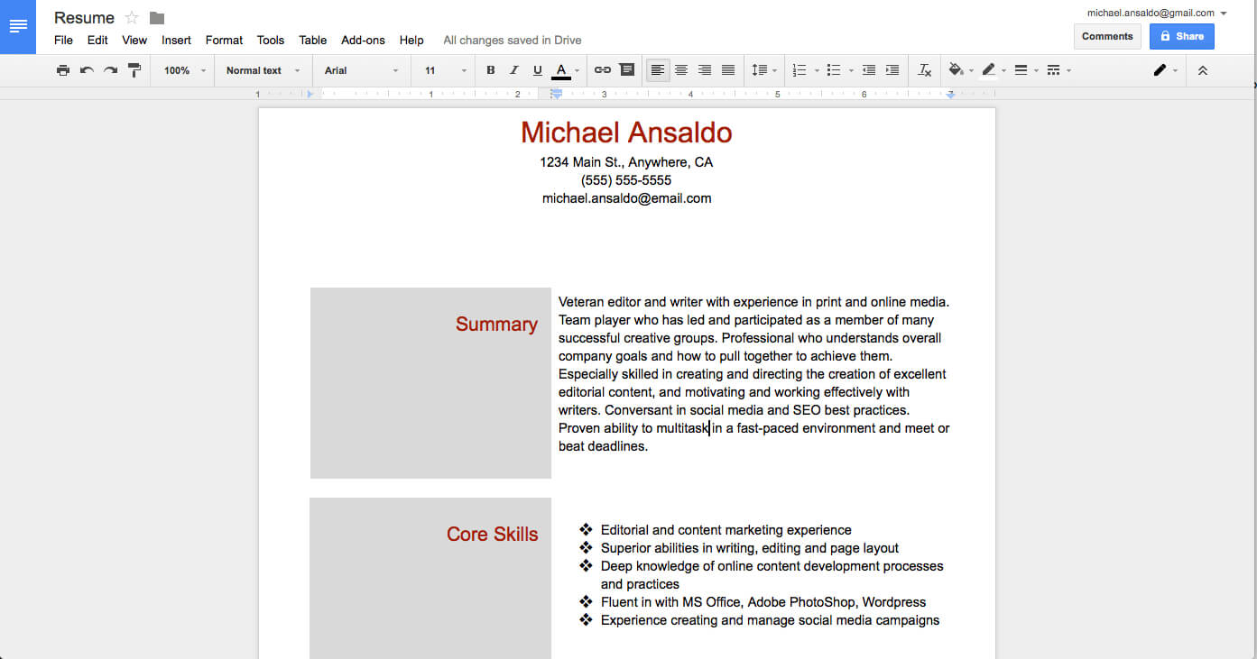Two Column Word Document Template – Humman Regarding Google Word Document Templates