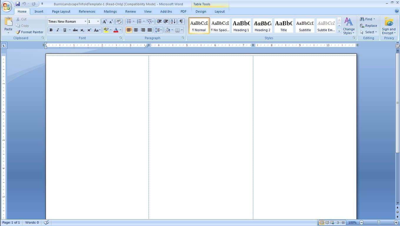 Two Column Word Document Template – Humman With Regard To 3 Column Word Template