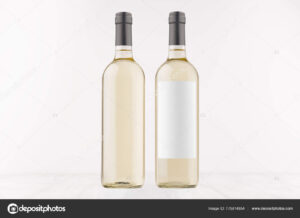 Two Transparent Wine Bottles Blank White Label Label White in Blank Wine Label Template