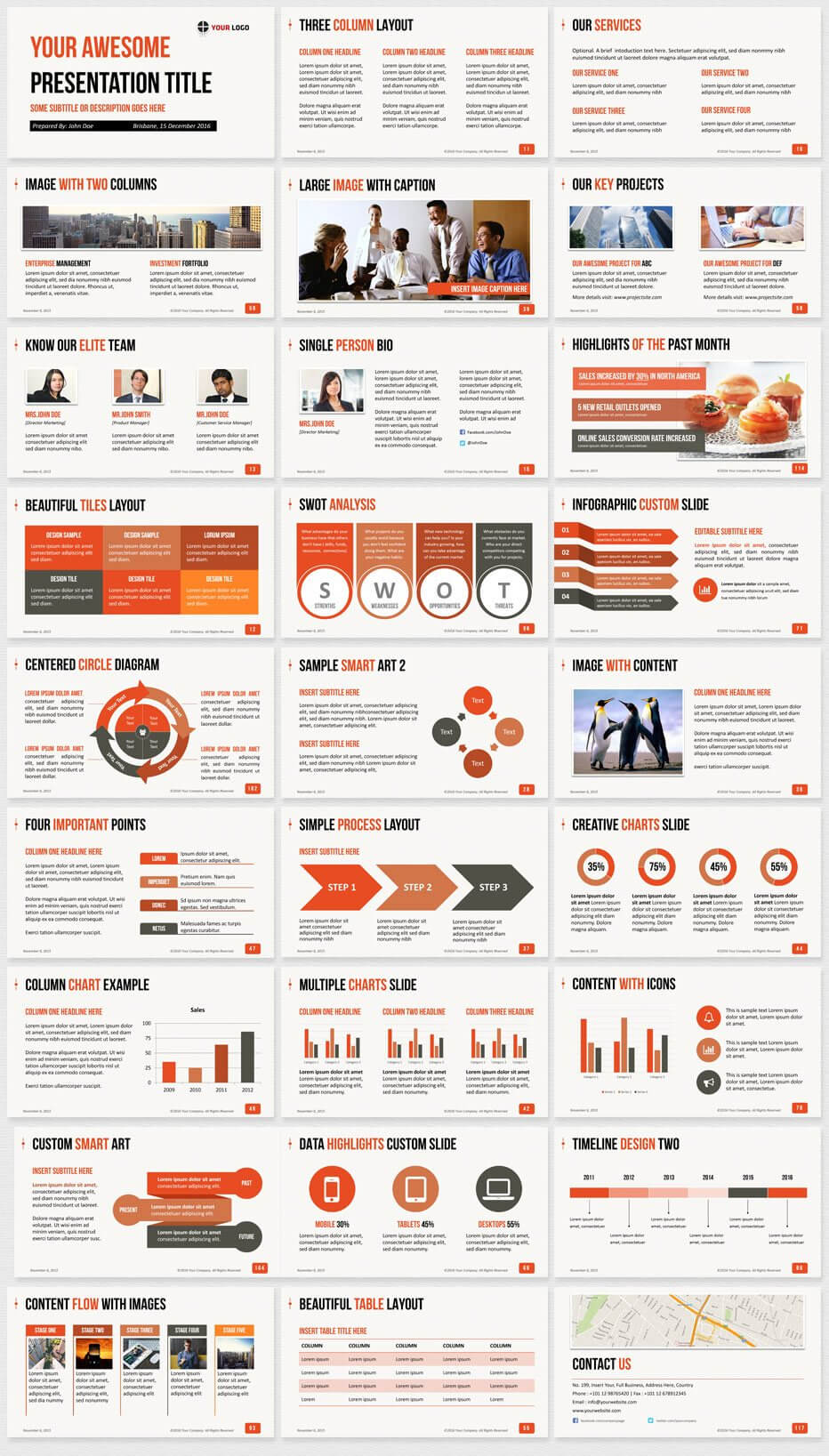 Ultimate Professional Business Powerpoint Template - 1650+ With Powerpoint 2013 Template Location
