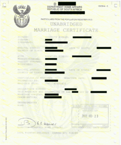 Unabridged Marriage Certificate | Apostilles And Police inside South African Birth Certificate Template