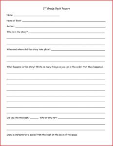 Unique 3Rd Grade Book Report Template Pdf | Job Latter within Book Report Template 3Rd Grade