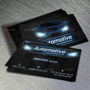 Unique Automotive Business Card Holder For Desk Templates in Automotive Business Card Templates