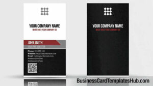 Unique Vertical Qr Code Business Card Template With Qr Code Business Card Template