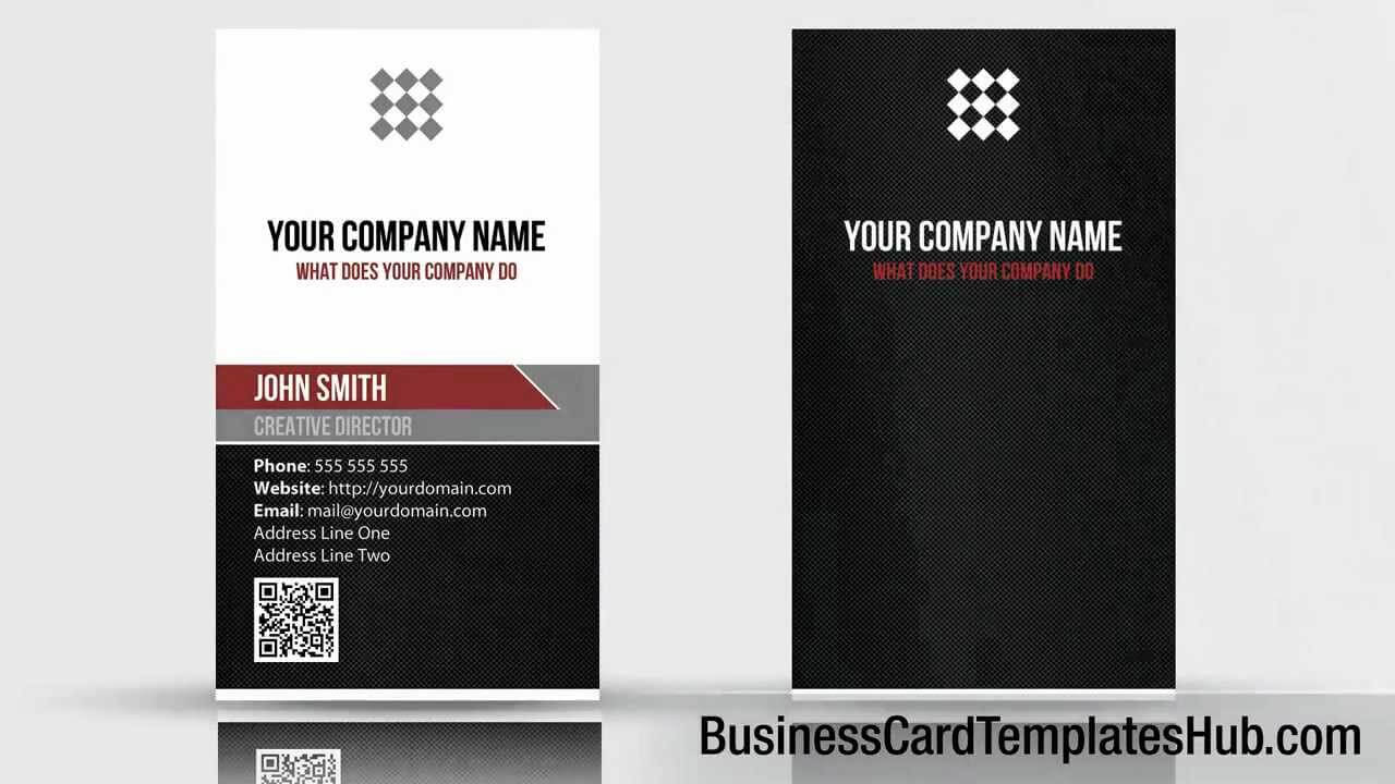 Unique Vertical Qr Code Business Card Template with Qr Code Business Card Template