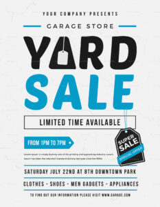 Unique Yard Sale Flyer Template Regarding Yard Sale Flyer Template Word