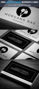 Unisex Hair Salon Business Card Template #look, #style With Regard To Hairdresser Business Card Templates Free
