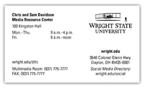 University Business Card | Office Of Marketing | Wright intended for Graduate Student Business Cards Template