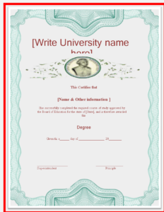 University Degree Certificate Template – Looking For A throughout University Graduation Certificate Template