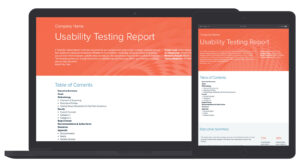 Usability Testing Report Template with Acceptance Test Report Template