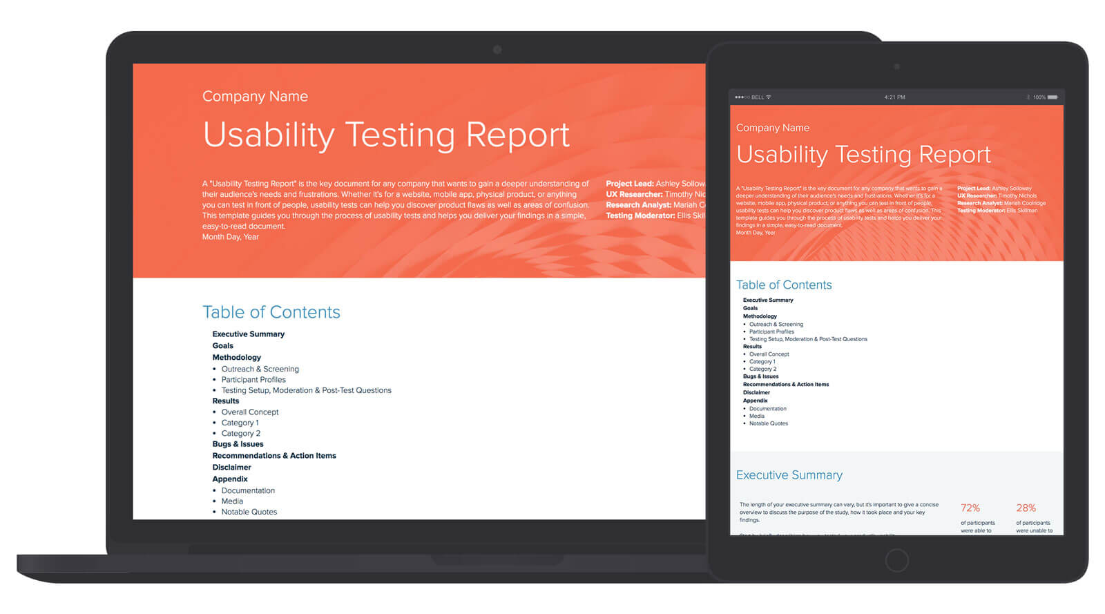 Usability Testing Report Template Within Usability Test Report Template