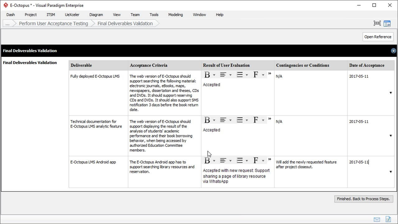 User Acceptance Report Template - Project Management With Acceptance Test Report Template