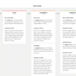 User Story Template & Examples – Milanote Pertaining To User Story Word Template