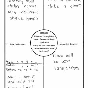 Using 4 Block (4 Corners) Template In Math throughout Blank Four Square Writing Template