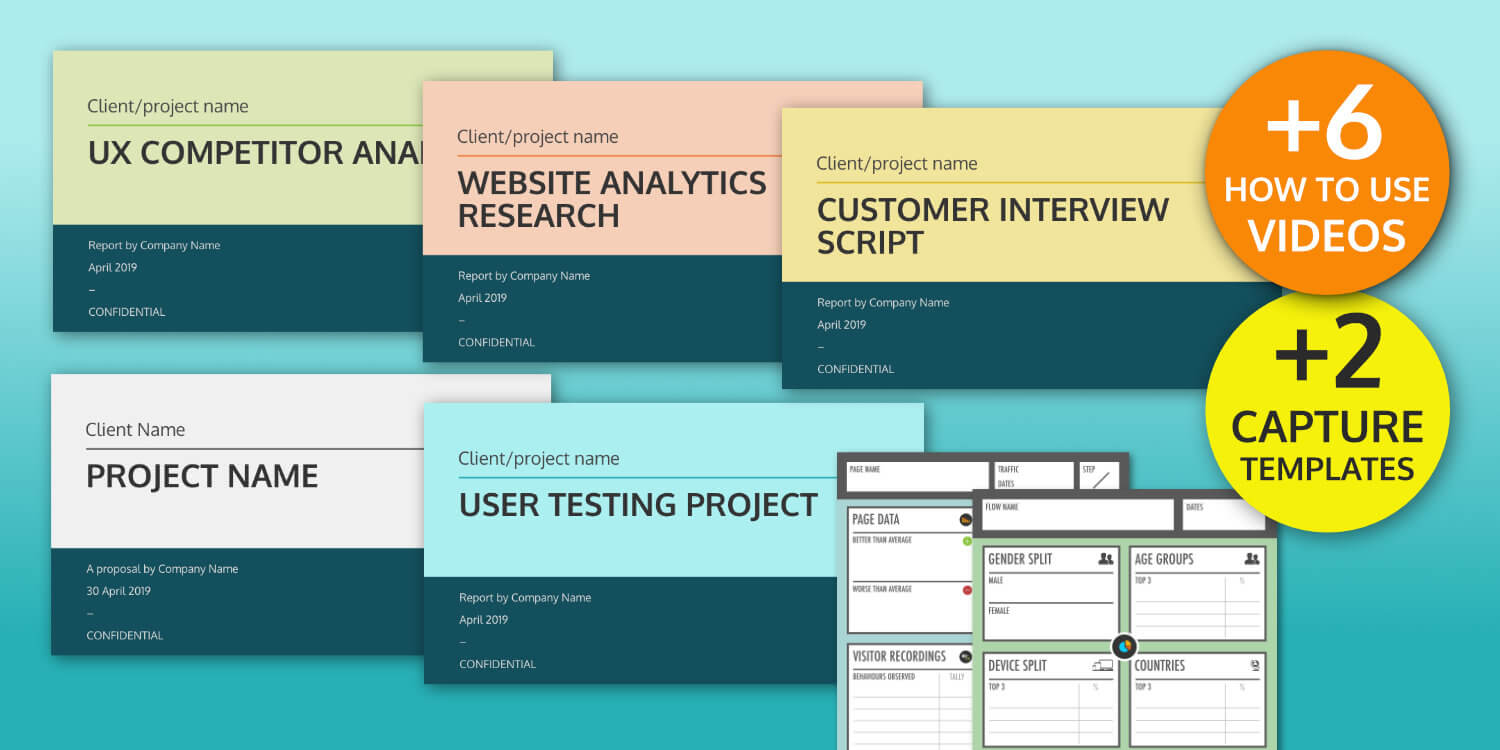 Ux Design Templates – User Research Reports And Guides For Ux Report Template