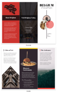 Vacation Travel Brochure Template Template – Venngage In Country Brochure Template