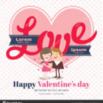Valentine's Day Card With Love Word — Stock Vector © Kraphix In Valentine Card Template Word